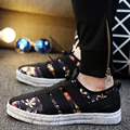 2017 New Fabric Leisure Slip-on Loafer Cloth Patchwork Alpargatas Leisure Canvas Lazy Shoes Cool Walk Masculino Esportivo Shoes