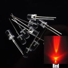 100 шт/ 3 мм круглый супер яркий красный светодиодный светильник Диод комплект для Arduino UNO