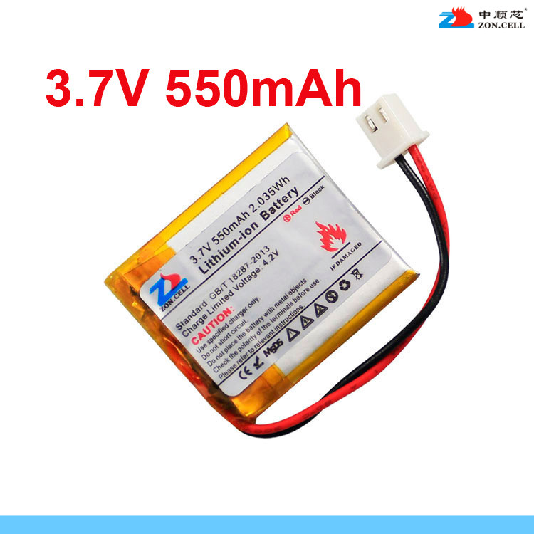 In 550mAh <font><b>403035</b></font> <font><b>3.7V</b></font> polymer lithium ion battery 453035 mobile card box MP3 Rechargeable Li-ion Cell image