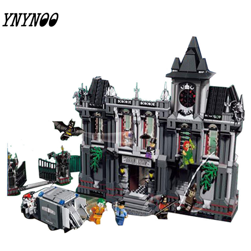 YNYNOO Super Heroes 07044 DC Comics Batman Arkham Asylum Breakout Building Brick Toys Compatible 10937 neca dc comics batman arkham origins super hero 1 4 scale action figure