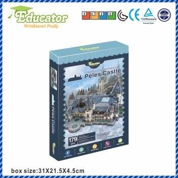 3D Puzzle model de hârtie joc Diy Castelul Peles România - Jocuri și puzzle-uri - Fotografie 2