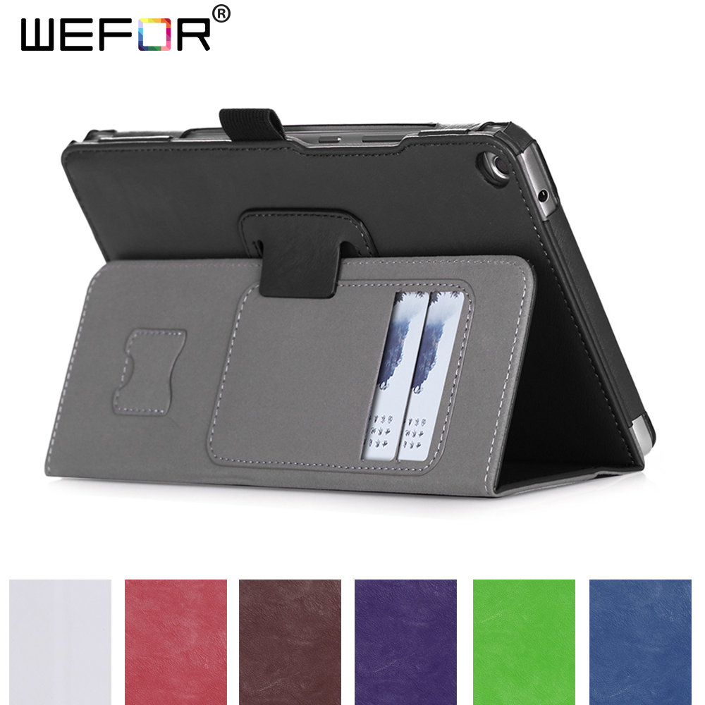 Case for Huawei MediaPad T3 8.0 KOB-L09 KOB-W09 High Quality ,PU Leather Smart Case Cover Stand Folio Case w/Card Slots cover case for huawei mediapad m3 youth lite 8 cpn w09 cpn al00 8 tablet protective cover skin free stylus free film