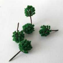 FREE SHIPPING  100pc 50mm high scale train layout miniature plastic tree with for architecture landscape modelism