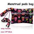 14*18 cm tamaño Mini Reutilizables Bolsas Húmedas para Mama Cloth Menstrual Pad, 15 diseños bolsa impermeable para cojines de lactancia, titular de toallas sanitarias