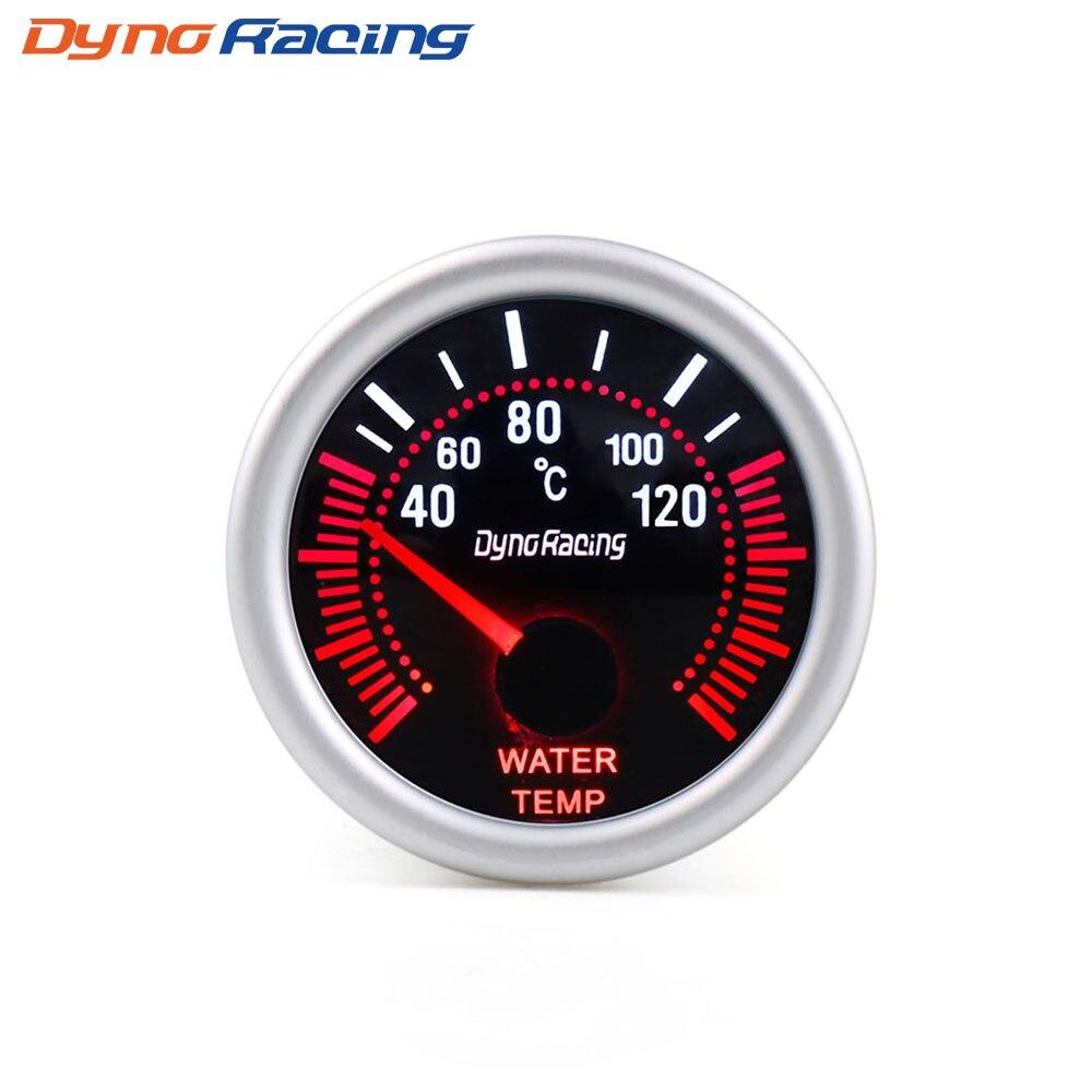 """Dynoracing """" 52 мм дымовая линза Boost gauge бар psi вакуумная температура воды Температура масла пресс вольтметр уровень топлива Тахометр Датчик Оборотов - Цвет: Water temp gauge"""