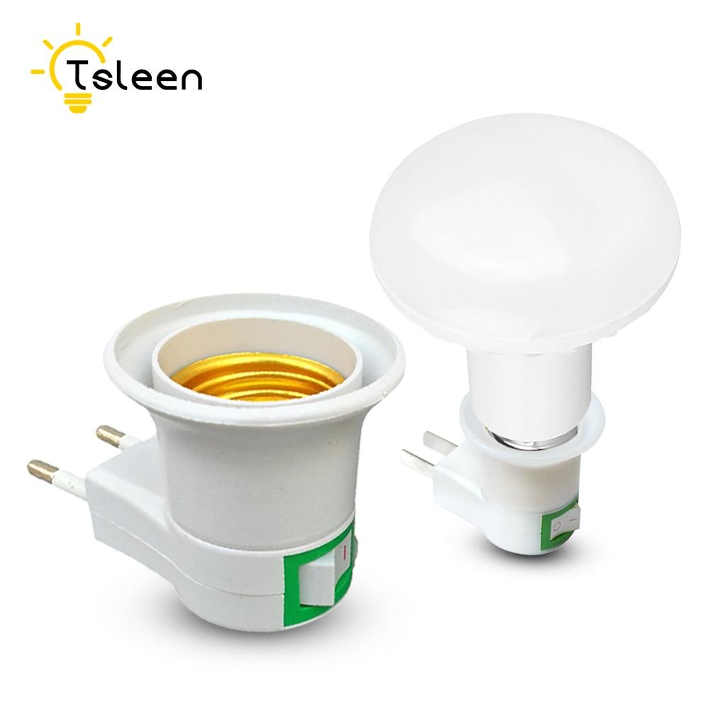 TSLEEN Cheap! E27 Lamp Holder E27 To E14 GU1O B22 LED Light Lamp Bulb Adapter Converter Conversion EU UK US Plug Charger Supply