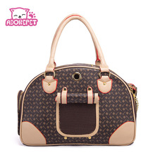 Pet cat small dog Travel luxury pu leather Carrier bag outdoor foldable portable dog Chihuahua carry tote shopping bag handbag