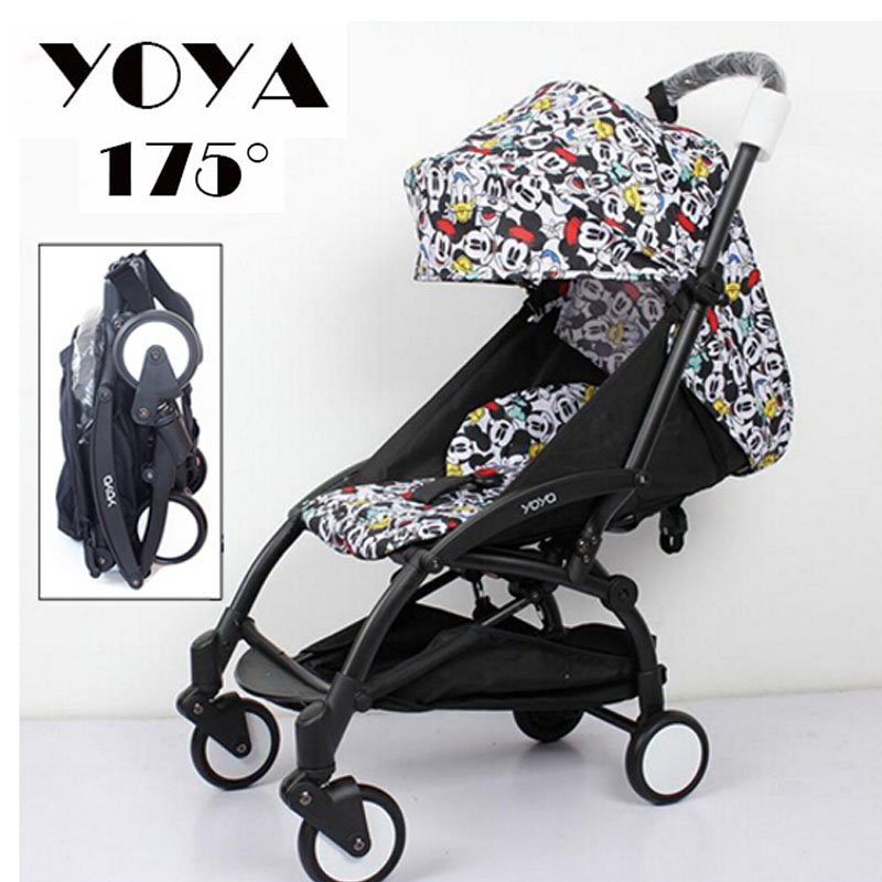 Yoya baby stroller light folding umbrella car can sit can lie ultra-light portable on the plane Free shipping 2017 pouch new baby stroller super light umbrella baby car folding carry on air plane directly minnie size