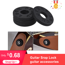 4pcs Guitar Strap Lock Guitar Parts & Accessories Electric Guitar Strap Locks Blocks Rubber Material Bass цена