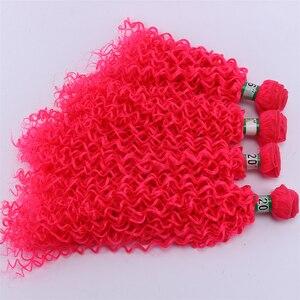 Image 2 - Extensión de pelo rizado Afro, Color rosa, 4 unidades
