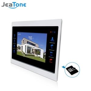 """Image 2 - JeaTone 7"""" Touch Button Video Door Phone Intercom Doorbell Metal frame Indoor Monitor"""