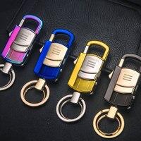 أعلى جودة معدن الرجال النساء سلاسل المفاتيح مفتاح سلسلة led متعددة الوظائف سيارة حامل مفتاح حلقة حقيبة المجوهرات قلادة ل أفضل الهدايا K1578