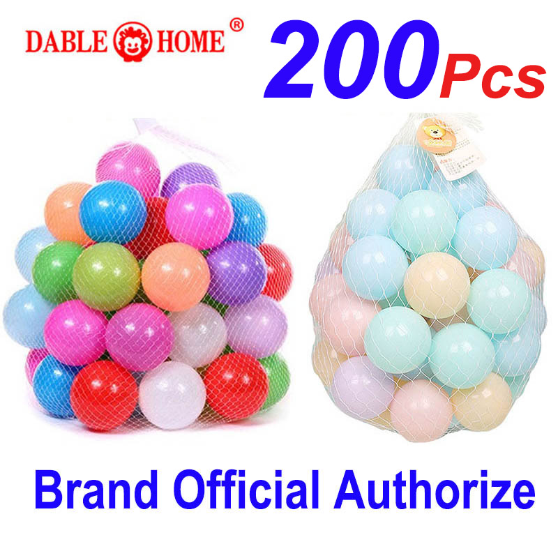 200 Pcs/bag Eco-Friendly Colorful Soft Plastic Water Pool Ocean Wave Ball Baby Funny Toys Stress Air Ball Outdoor Fun Sports Hot