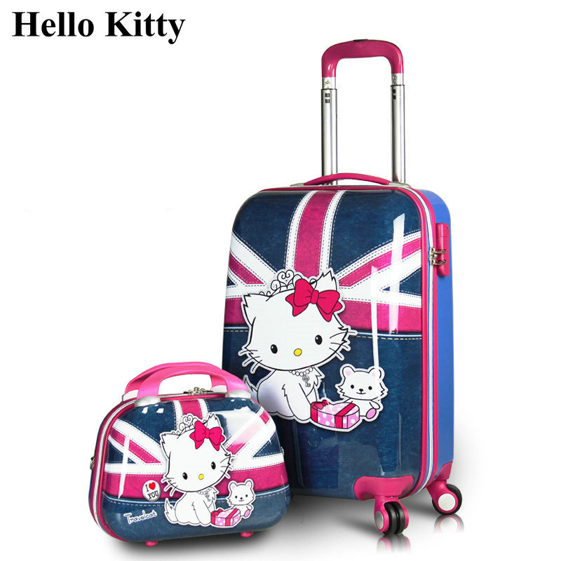 Aliexpress.com : Buy Girls Hello Kitty Luggage Sets&Women Cartoon ...