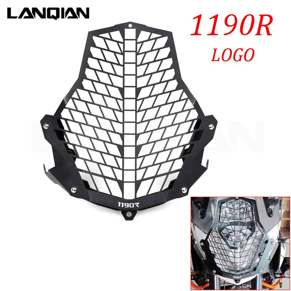 Motorcycle Accessories For KTM 1190R Headlight Guard Front Lamp Protector Cover Stainless Steel All Years With LOGO motorcycle front rider seat leather cover for ktm 125 200 390 duke
