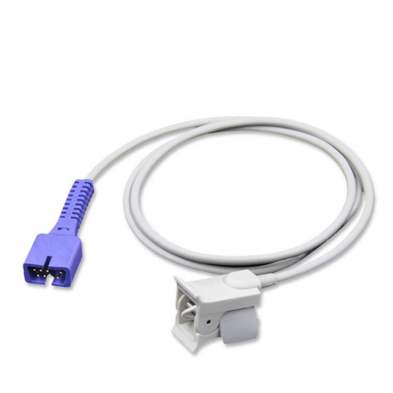 US $14 66 18% OFF|Compatible for Nellcor DB 7 Pin Pediatric Fingerclip Spo2  Sensor ,Without Oximax Tech,Pulse Oximeter Spo2 Sensor 1M,TPU-in Wiring