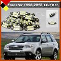 Car LED Kit Set Lights Vehicle White 12V Interior Map Dome Exterior License Plate Bulbs Quality Warrant For 1998-2012 Forester