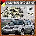 Carro LEVOU Kit Conjunto de Luzes Do Veículo Branco 12 V Lâmpadas da Placa de Licença Interior Mapa Dome Exterior Qualidade Mandado De 1998-2012 Florestal