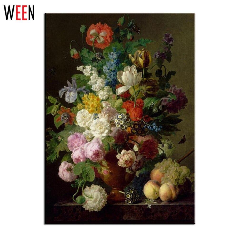 peinture l 39 huile florale achetez des lots petit prix peinture l 39 huile florale en. Black Bedroom Furniture Sets. Home Design Ideas