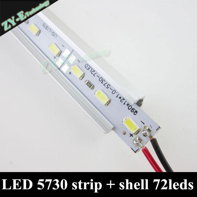 Ceiling Lights Apprehensive 100pc*100cm Wholesale Dc12v 72leds Smd 5630 Led Hard Rigid Led Strip Bar Light With Aluminium Shell+pc Cover Freeshiping By Dhl Vivid And Great In Style Lights & Lighting