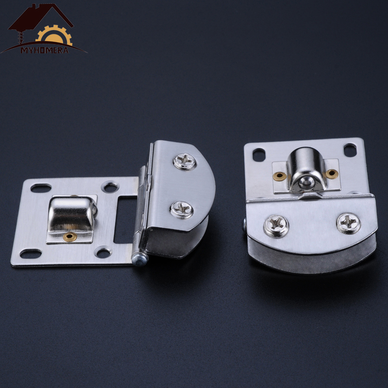 Myhomera Glass Door Hinge Clamps Stainless Steel Wine Cabinet Bread Cabinet Cupboard Cabinet Gate Clip Door Hinges For 5-9mm