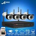 Os mais recentes & 720 P HD 36IR CCTV Sem Fio Kit Câmera Ao Ar Livre + Home & Plug And Play Segurança 4CH NVR Sistema de Vigilância Por vídeo Móvel APP