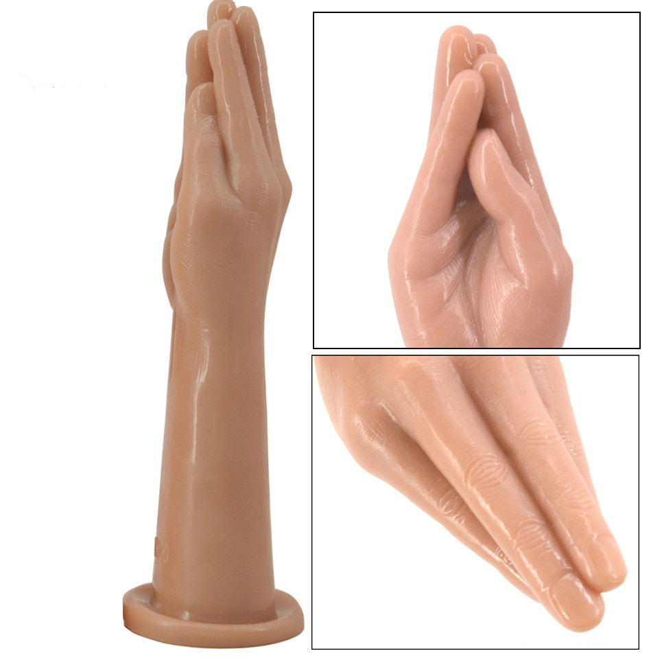 FAAK Real Skin Touch Popular Hand Sex Toy Lifelike Finger Toy High Quality Suck Penis For Vagina Dildo <font><b>Lesbian</b></font> Masturbation image
