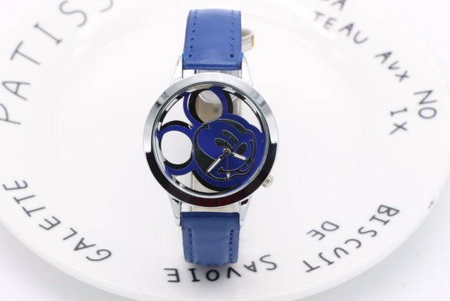2018 New Design Women Dress watches Quartz Watch fashion mickey  cartoon Watch Ladies Sport Watches Free shipping