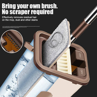 Dust Wizard Mop Cleaning Tool Kit 360 Degree Rotating Tile Marble Floor for Living Room Kitchen LAD-sale
