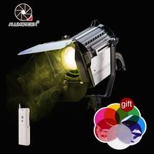 ALUMOTECH 150 W CONDUZIU a Luz do Ponto Regulável Bi-color Spotlight Fresnel Estúdio Sem Fio LED Luz 3200/5500 K para a Foto de Iluminação De Vídeo