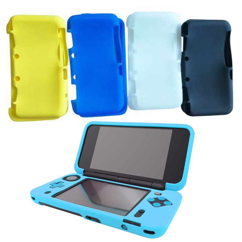 For New 2DS XL Soft Silicone Flexible Gel Rubber Skin Case Protective Guard Soft Rubber Skin Cover For New 2DS XL LL Accessories