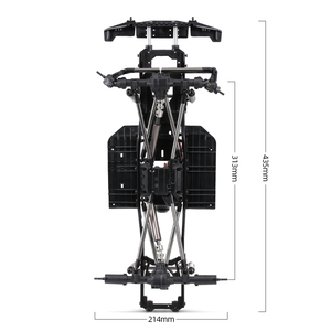 Image 5 - AUSTAR 313mm Wheelbase Chassis Frame With 540 35T Brushed Motor for 1/10 AXIAL SCX10 II 90046 90047 RC Crawler Climbing Car DIY