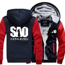 Anime Sword Art Online S.A.O sweatshirt men 2019 spring winter warm fleece hoodie fashion tracksuit high quality coat jacket
