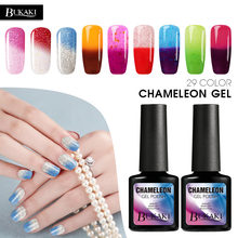 BUKAKI Thermo Gel NailPolish cambio de temperatura Gel barniz de larga duración Led pintura de uñas colores UV camaleón uñas arte Color humor(China)