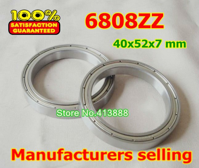10pcs free shipping thin wall deep groove ball bearing 6808ZZ 40*52*7 mm gcr15 6326 zz or 6326 2rs 130x280x58mm high precision deep groove ball bearings abec 1 p0