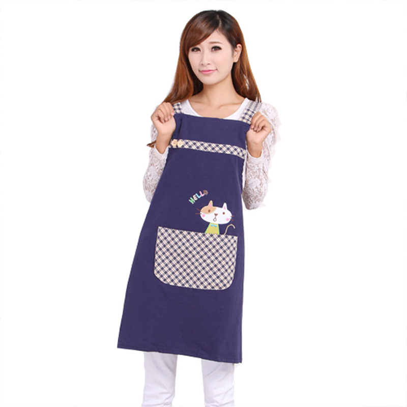 Hot Sale Cute Cat fashion princess tea shop kindergarten apron woman lady work wear cotton overall aprons logo