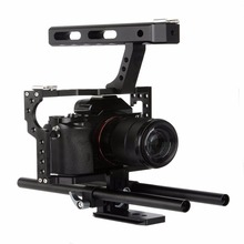 Professional Camera Cage Stabilizer Kit Rod Rig DSLR Camera Video Cage Kit Stabilizer Top Handle Grip for Canon for Nikon Camera