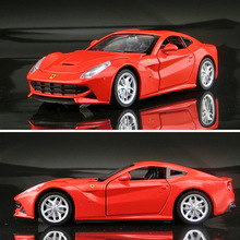 1 32 fast and furiousf12 simulation alloy car models 4door coupe acousto optic toys Luxurious Car