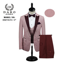 DARO Latest Coat Pant Designs Tuxedos Pink and blue Suits for Men Dress Wedding Groom Prom Suits DR8191(China)
