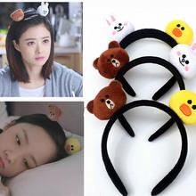 2018 New Fashion Mini Fur Bear Rabbit hair bands For Women Girl hairbands Fur Shout hoo hoo Cute Soft Nap Bear Hair Jewelry Gift