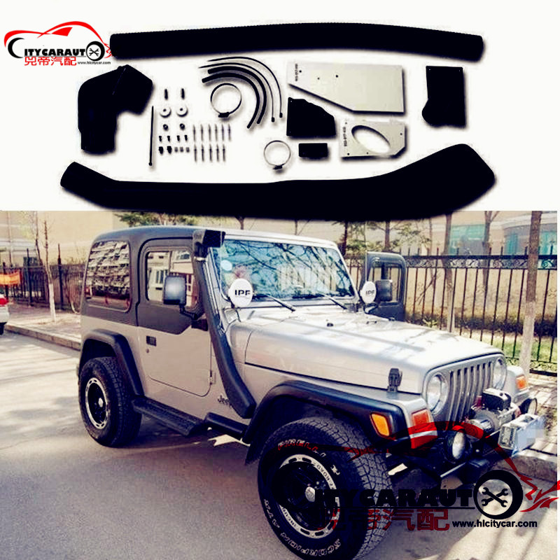 CITYCARAUTO AIR INTAKE SNORKEL KIT 1999 - 2006.06 WRANGLER TJ AIRFLOW SNORKEL CAR ACCESSROIES FIT FOR TJ WRANGLER citycarauto 2007 2011 airflow snokel fit for jeep wrangler jk series 3 8l v6 air ram intake snorkel kit black