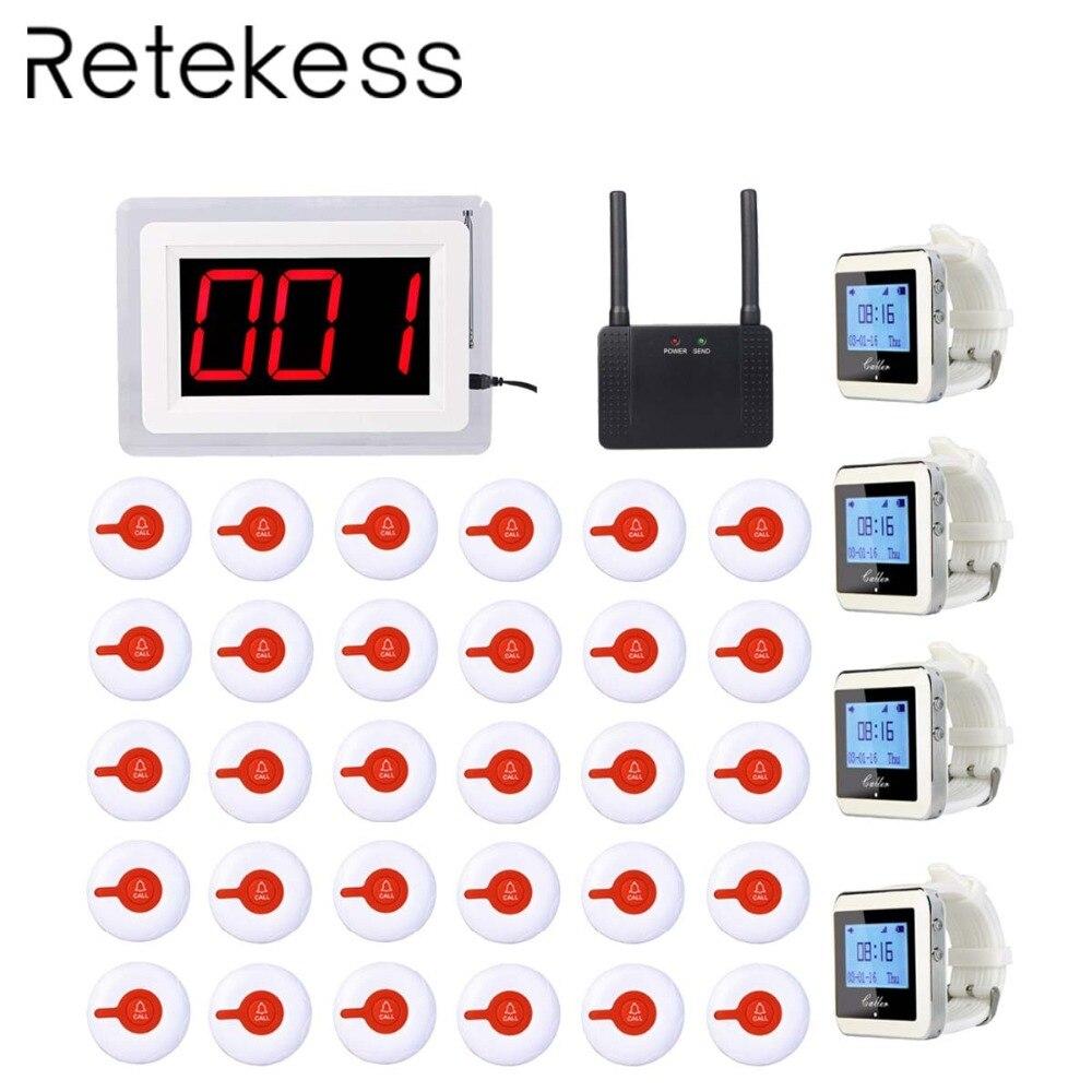 Больничный прибор для вызова медсестры беспроводные сигнальные устройства 1 хост приемника + 4 приемника часов + 1 ретранслятор сигнала + 30 кн