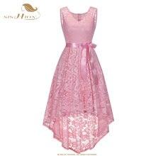 SISHION Sexy Party Dress Women Sleeveless Short Front Long Back  Asymmetrical Pink Wine Red Navy Blue f481cb75b7c6