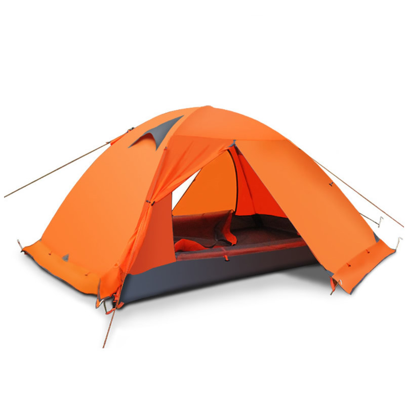 2-3 Persons Double Layer Winter Outdoor Camping Tent Windproof Waterproof Professional Camp Tourist 4-Season Tent Ultralight цена