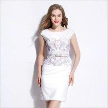 Vestidos De Mujer Vestido Dashiki Hi-q Bodycon Atractivo de Las Mujeres Vestidos de Partido Del Club de Noche Vestido de Tallas grandes Blanco
