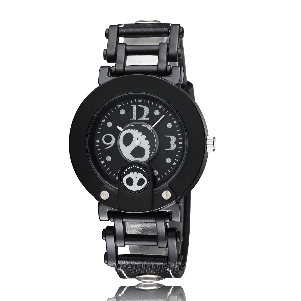 Skull Women Watch Fashion design relogio masculino Skeleton Head Quartz Dress Mens Watches Leather Strap casual  relojes hombre airsoft adults cs field game skeleton warrior skull paintball mask