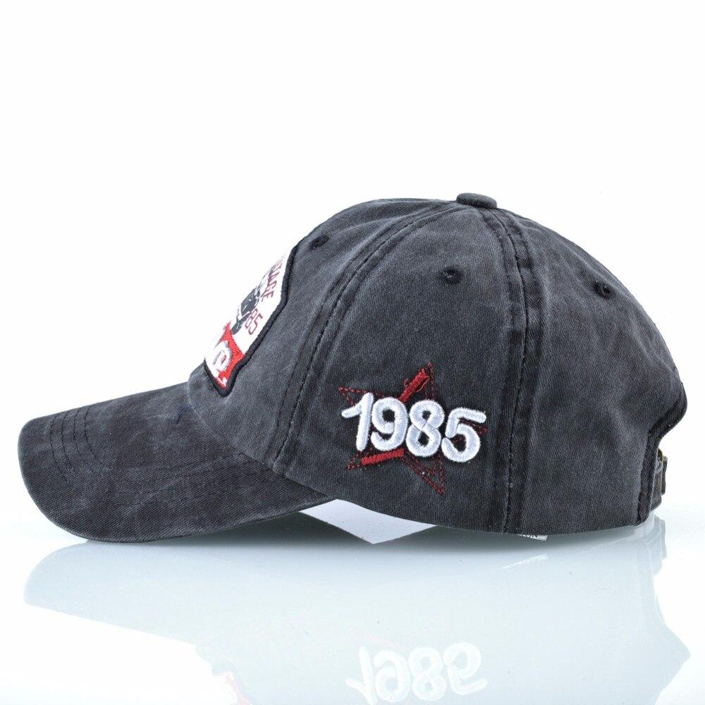 Vintage Baseball Cap Men Women Washed Denim Dad Hat Capricorn 1985 Snapback Hip Hop Bone Outdoor Cotton Casquette Running Homme 2