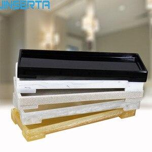 Лоток для хранения ювелирных изделий JINSERTA Из Мраморной смолы, витрина, ожерелье, кольцо, серьги, косметический Органайзер, домашний гостини...