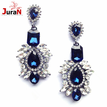 JURAN New Arrival Statement Big Crystal Shourouk Stud Earrings For Women Girl Party Earring 3 Colors Wholesale C1208
