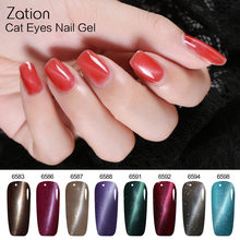 Zation Thermo UV Gel Varnish Chameleon for Manicure Printing Magnetic 3D Cat Eye Glitter Gel Polish Color Changing Glue Lacquer(China)